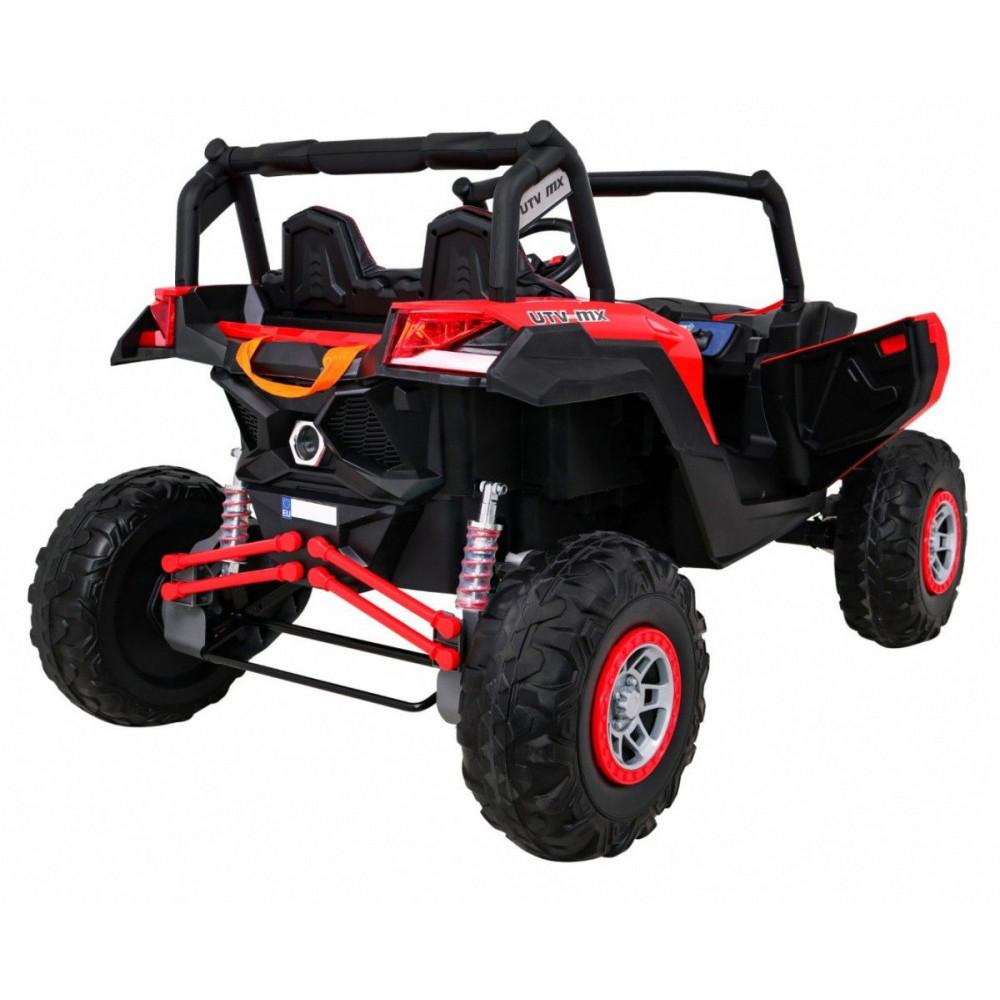Elektrické autíčka dvojmiestne - Elektrické autíčko UTV-MX STRONG - červená - 6