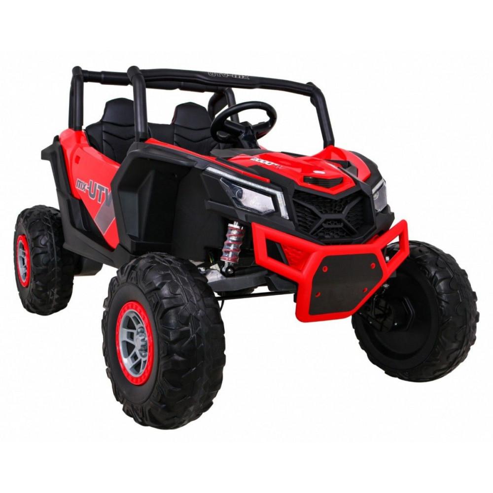 Elektrické autíčka dvojmiestne - Elektrické autíčko UTV-MX STRONG - červená - 7