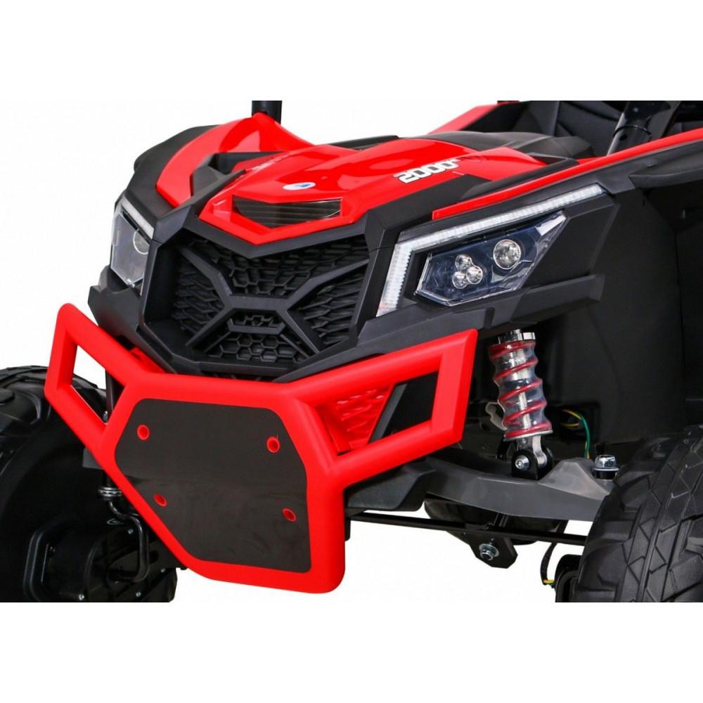 Elektrické autíčka dvojmiestne - Elektrické autíčko UTV-MX STRONG - červená - 12