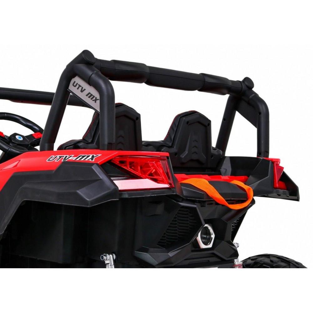 Elektrické autíčka dvojmiestne - Elektrické autíčko UTV-MX STRONG - červená - 13